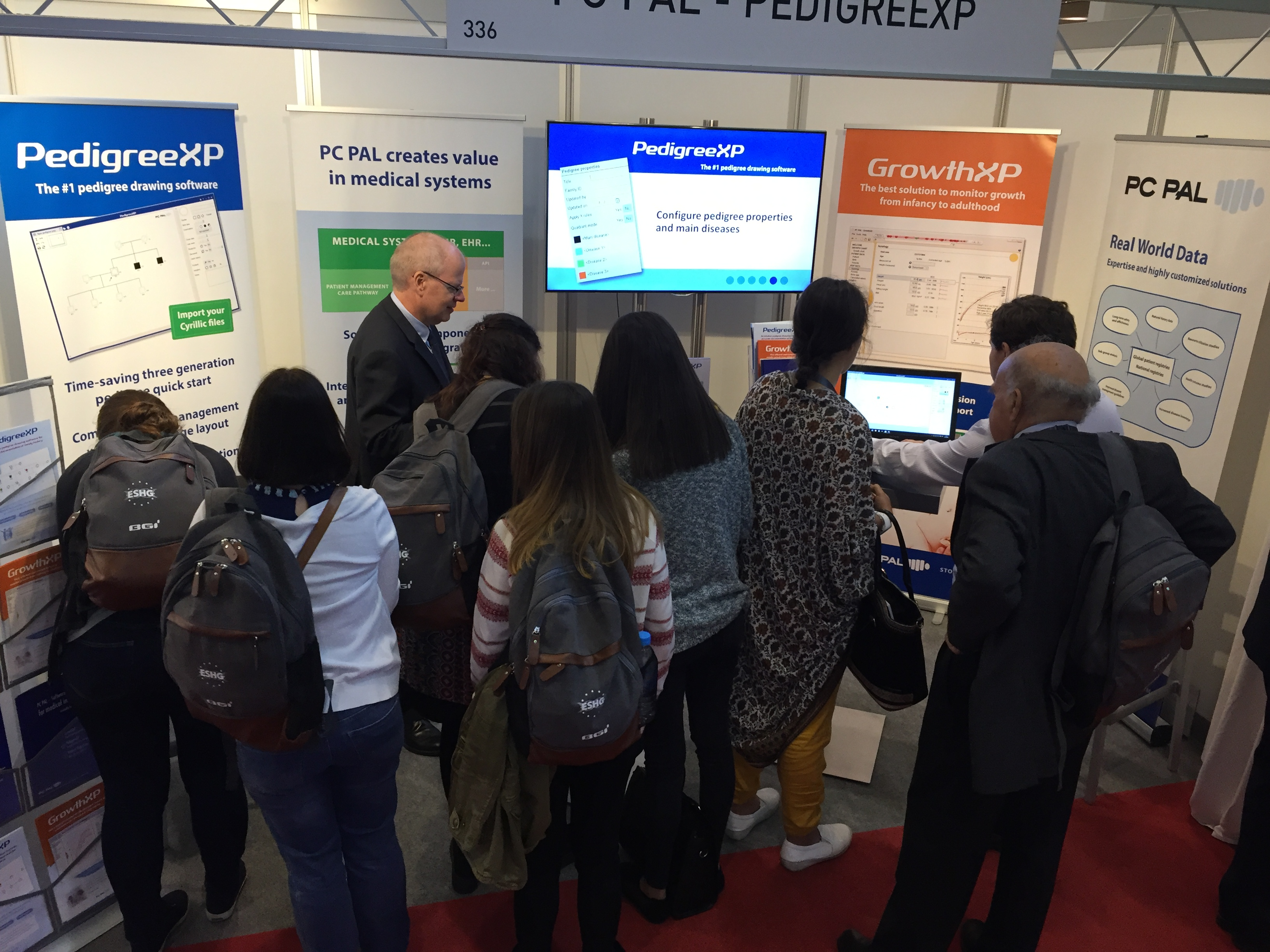 PC PAL booth at ESHG 2016